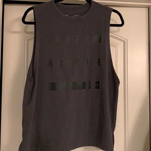 Charcoal Tank - Under Armour Muscle Ter